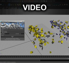 Maya MEL – Particle Instancer to Mesh