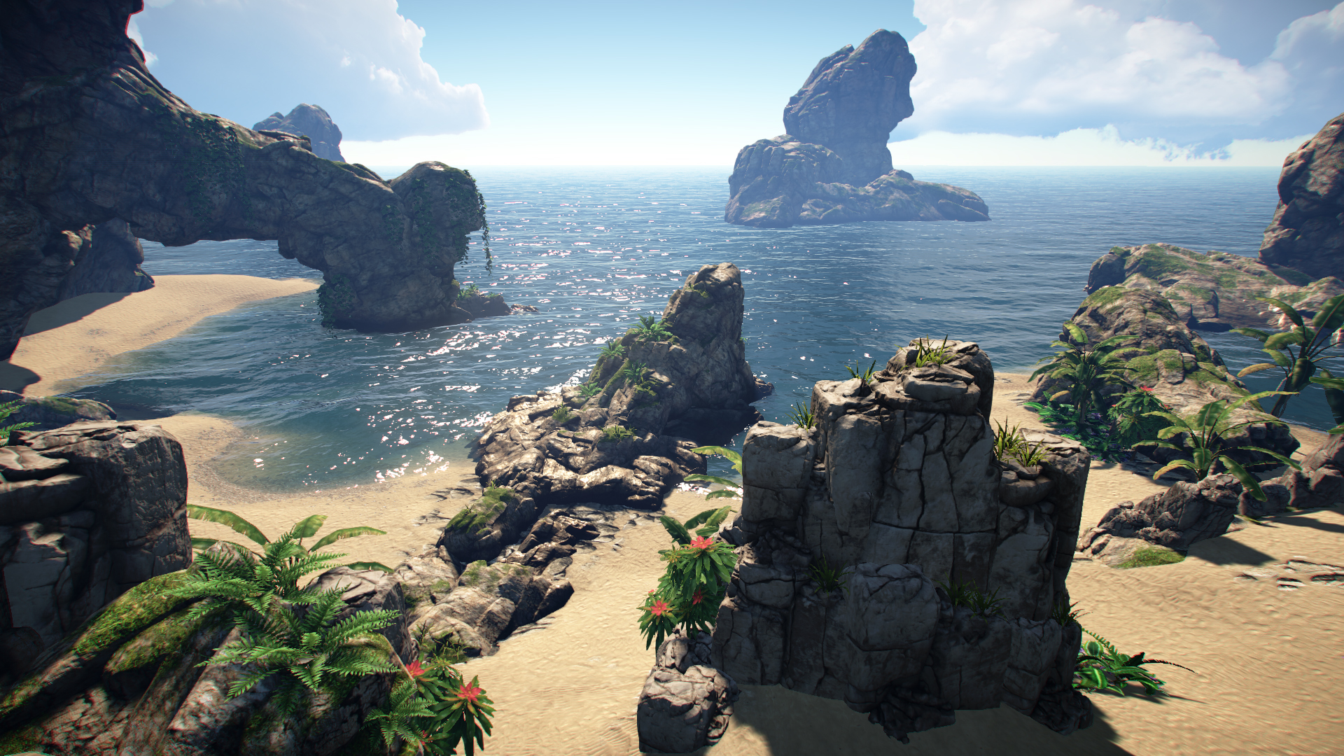 Mike Cook Portfolio » Unity – Tropical Environment WIP